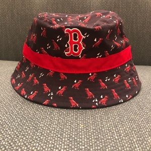 f319ebcea9d Boston Red Sox infant dinosaur bucket hat